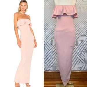 Nookie Hermosa Strapless Gown in Blush Pink